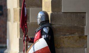 Suit of armor guarding entrance