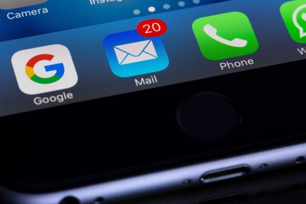 inbox showing 20 unread emails