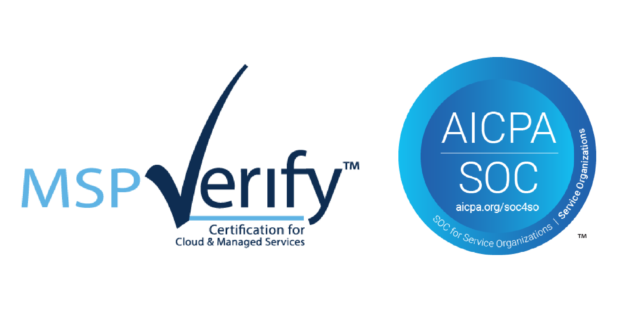Third-Party Audit Logos from MSP Verify and SOC 2 Achieved by The AME Group